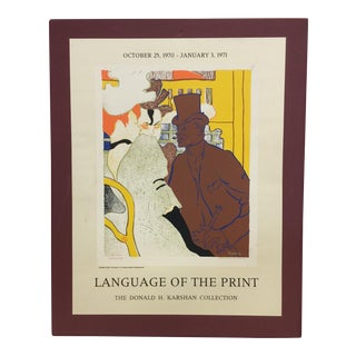 """Original Poster Advert of """"Language of the Print"""" For Sale"""