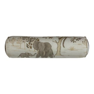 Travers Safara Embroidery Bolster Pillow For Sale