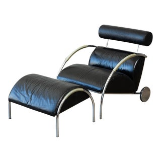 Zyklus Chair and Ottoman by Peter Maly - a Pair For Sale