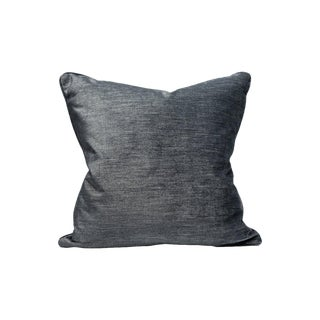 Scalamandre Supreme Velvet Pillow, Ebony For Sale