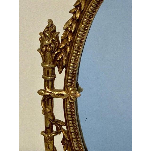 Gold Napoleon III Bronze Dressing Mirror For Sale - Image 8 of 10