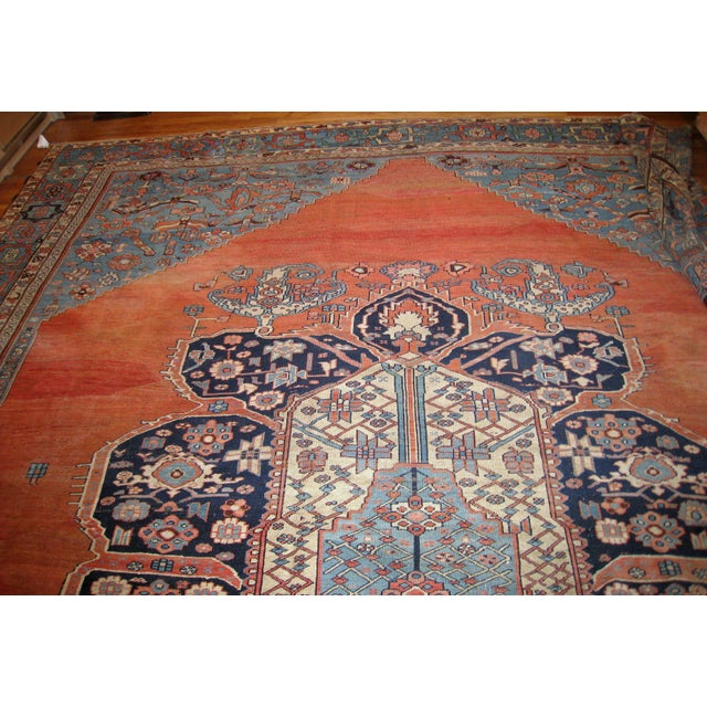 1880s, Handmade Antique Persian Bakshaish Rug 11' X 15.7' For Sale In New York - Image 6 of 10