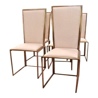 Italian Chairs In Brass 1960
