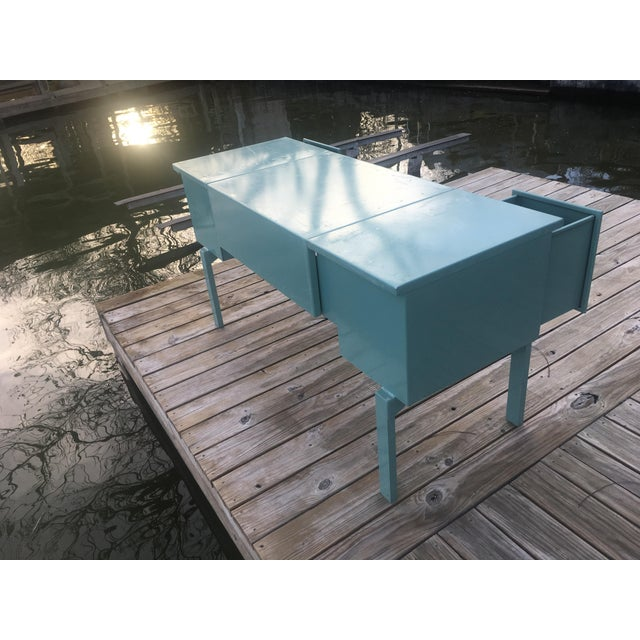 20th Century Industrial Aluminum Military Campaign Tanker Desk For Sale - Image 9 of 12