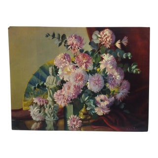"1930s Vintage ""Pretty Flowers"" M. Gernand Print For Sale"