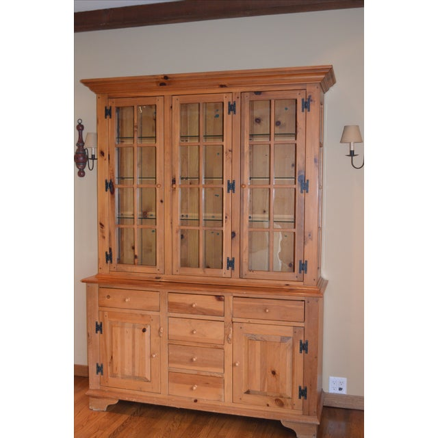 Ethan Allen Country Craftsman Lighted China Cabinet - Image 3 of 5