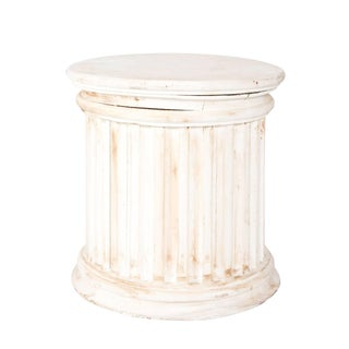 Fluted Column Pedestal For Sale