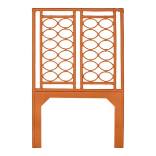 Infinity Headboard Twin - Orange For Sale