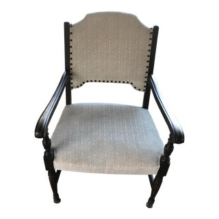 Solid Wood Ivory Accent Chair