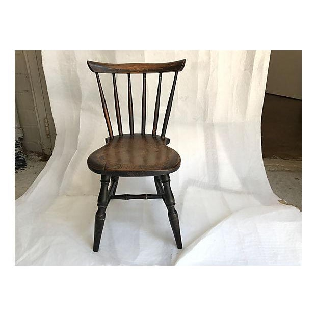 English turned wood child's chair. No maker's mark. Scratches.