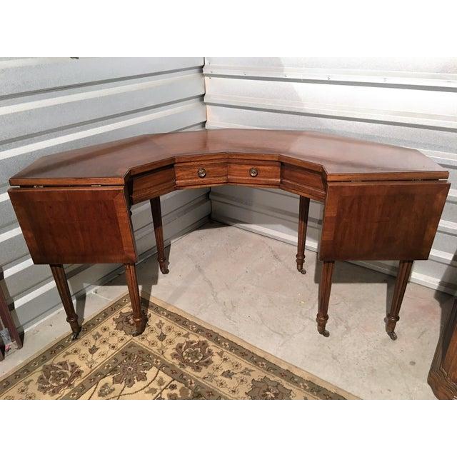 "Vintage Thomasville Drop-Leaf ""Horseshoe"" Desk - Image 2 of 10"