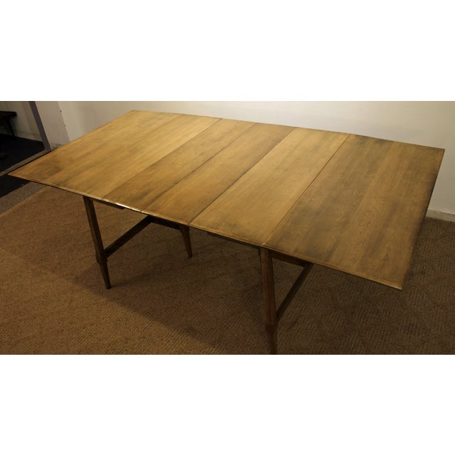 Mid-Century Modern Heywood Wakefield Cadence Sable Drop Leaf Dining Table For Sale In Philadelphia - Image 6 of 11