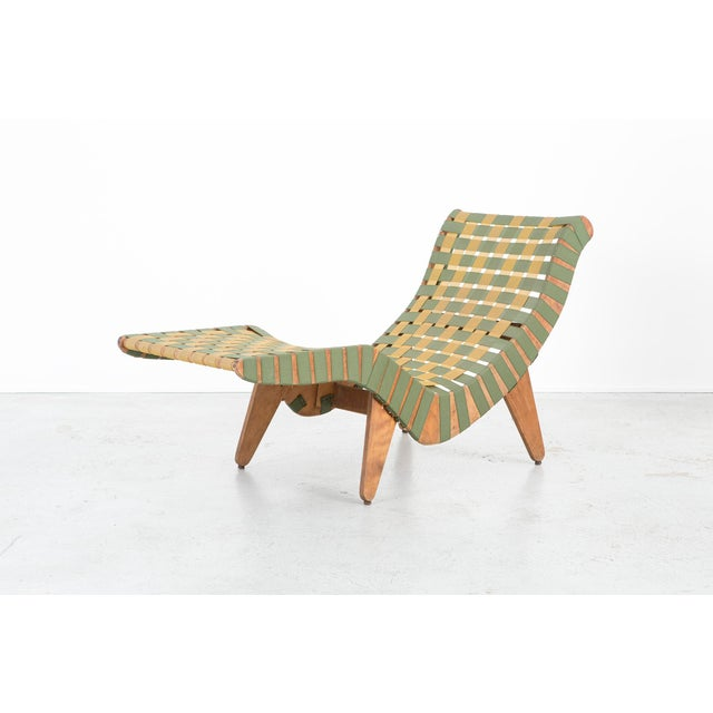 Wood Jens Risom Style Furniture Set With Klaus Grabe Chaise For Sale - Image 7 of 13