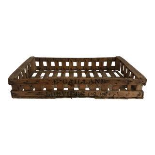 Rustic Belgian Farmhouse Fruit Crate For Sale