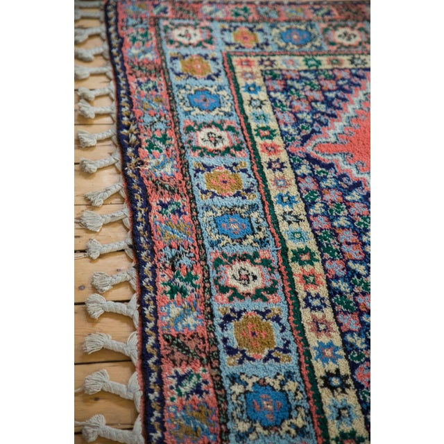 "Vintage Red & Blue Moroccan Rug - 6'8"" X 9'6"" - Image 9 of 9"