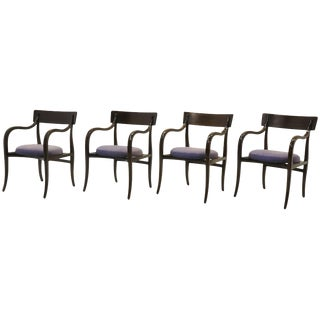 Four Alexandria Chairs by Edward Wormley for Dunbar, Elegant Modern at Its Best For Sale