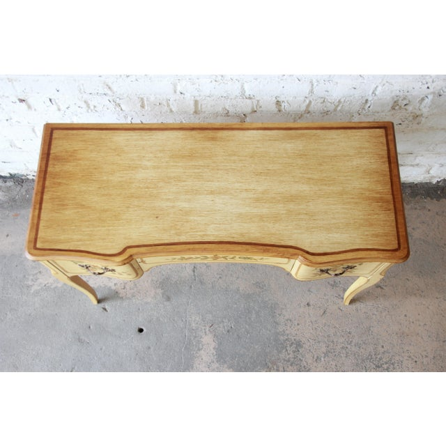 Yellow John Widdicomb Vintage French Writing Desk For Sale - Image 8 of 12