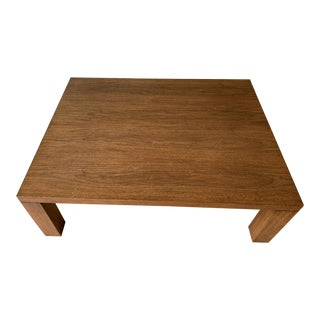 Modern Solid Walnut Wood Coffee Table For Sale