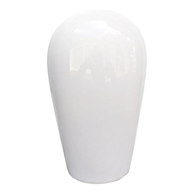 Haeger Modern White Vase For Sale