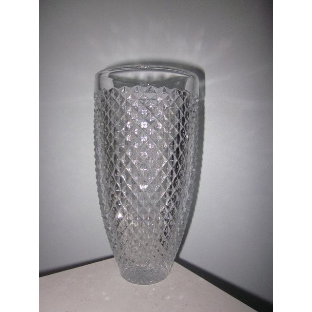 """Offering this Crystal Vase by Nachtmann. Measuring 8-15/16"""" high x 4.5"""" wide This is a used item and is excellent with..."""