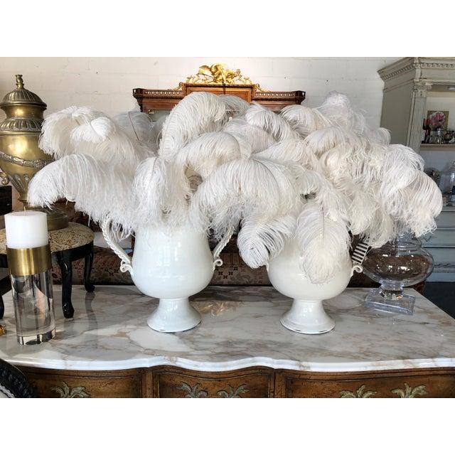 Fortunata Italian Ceramic White Urns - a Pair For Sale In Minneapolis - Image 6 of 13