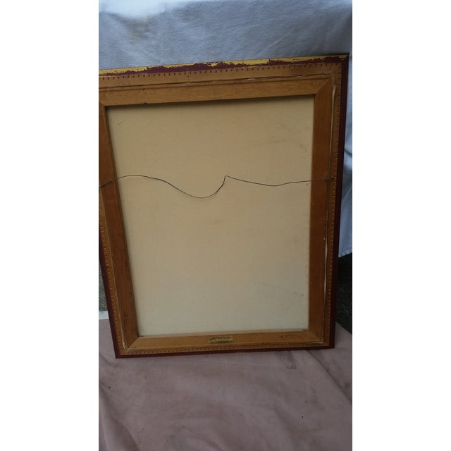 Vintage Abstract Painting From the 1960s - Image 8 of 8