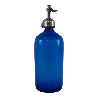 Antique Seltzer Bottle Springfield Illinois Mester Bottling Company Sapphire Blue For Sale