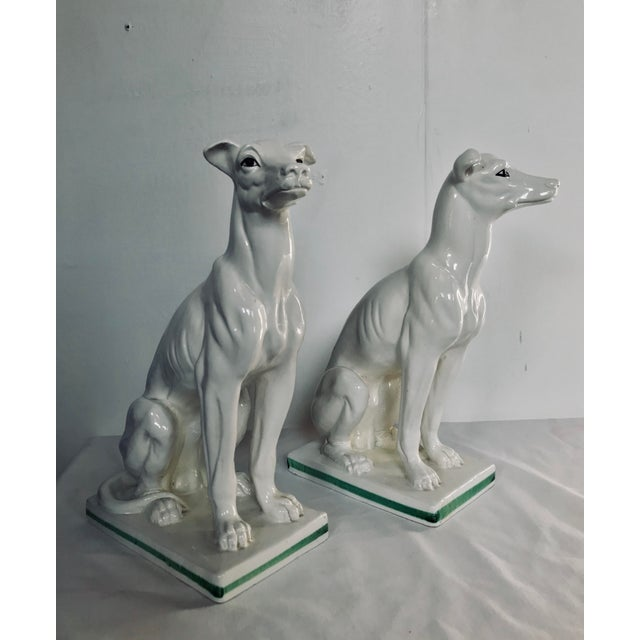 1960s Blanc De Chine Italian Greyhound's , a Pair For Sale - Image 5 of 13