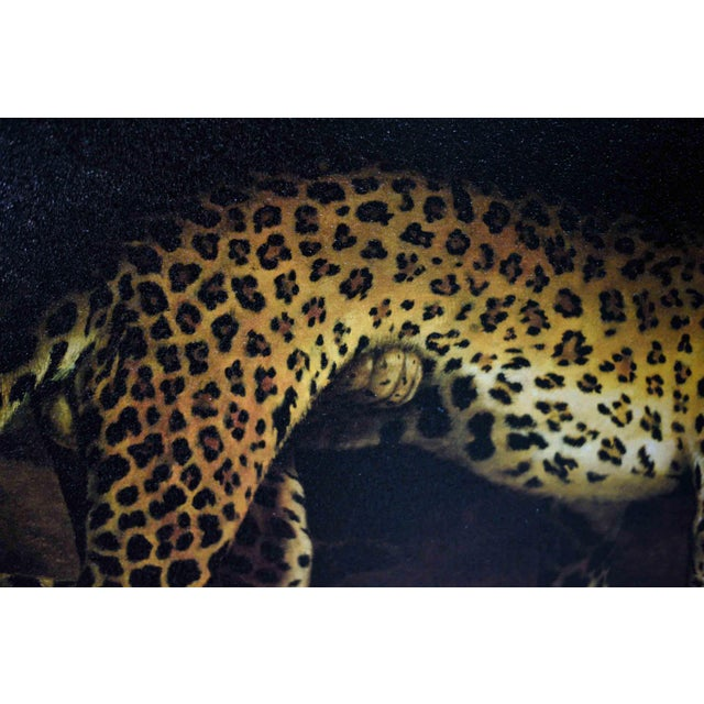 Two Leopards Lying in the Exeter Exchange by Jacques-Laurent Agasse Reproduction 47h X 37winches For Sale - Image 10 of 13