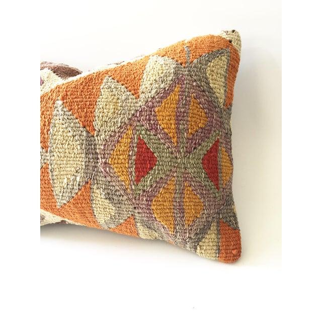 Vintage Kilim Lumbar Pillow - Image 4 of 5
