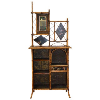 19th Century English Regency Bamboo Etagere/Bookcase For Sale