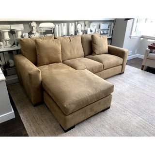 Contemporary Suede Tan Sectional Preview