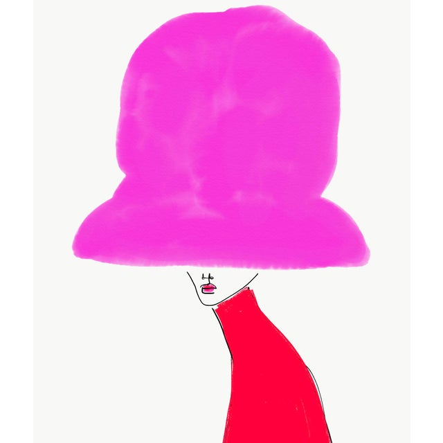 """Chapeau Rose"" Limited Edition Print by Annie Naranian For Sale"