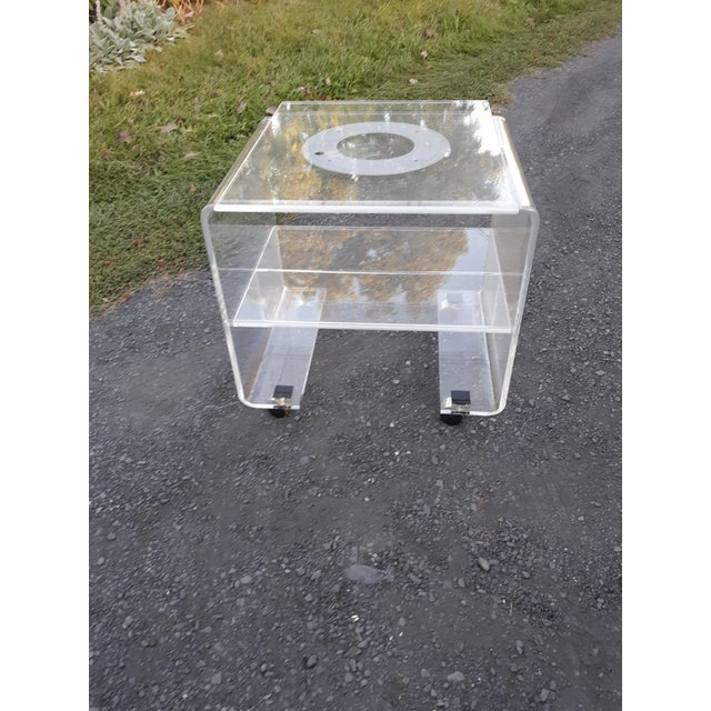 Mid-Century Modern 1970's Vintage Lucite Bar Cart For Sale - Image 3 of 11