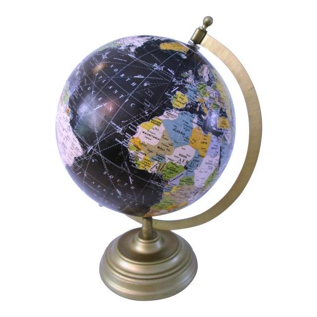 Black Spinning World Globe - Image 1 of 8