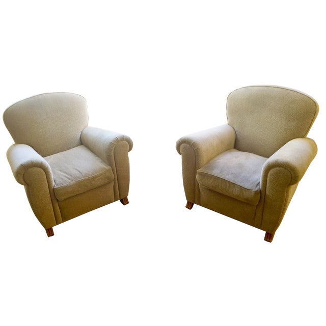 A. Rudin Club Chairs - A Pair - Image 1 of 5