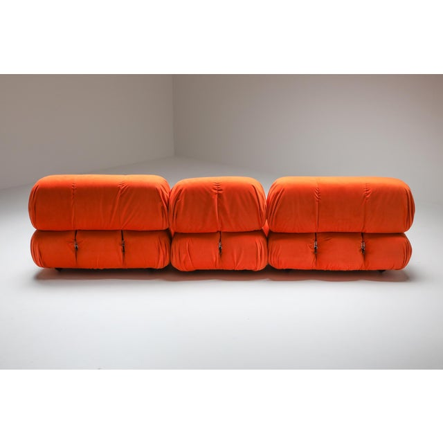 1970s 1970s Camaleonda Sectional Sofa in Bright Orange For Sale - Image 5 of 9