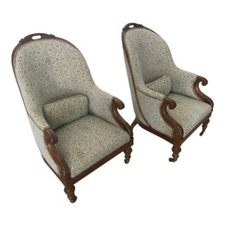 Early 18th Century Vintage Bruce Gregga Regency Curated Mahogany Chairs- a Pair For Sale