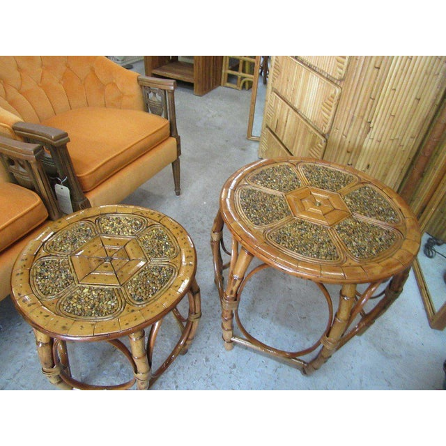 Island Style Drum Tables - a Pair - Image 5 of 10