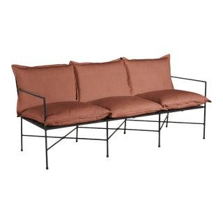 Summer Classics Italia Sofa in Linen Terracotta For Sale