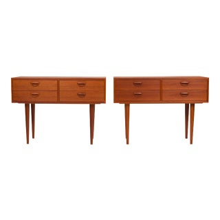 Vintage Danish Mid-Century Kai Kristiansen Teak Accent Tables (Pair) For Sale
