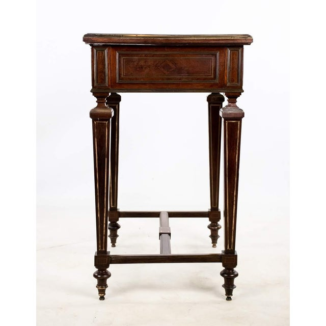 Louis Philippe Brass and Mother of Pearl Inlay Gentleman's Dressing Stand For Sale - Image 10 of 13