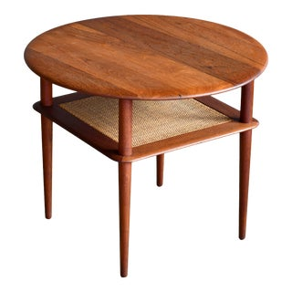 Round Tiered Teak End or Side Table by Peter Hvidt and Orla Molgaard Nielsen For Sale