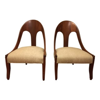 Vintage Baker Spoon Back Lounge Chairs by Michael Taylor - a Pair For Sale