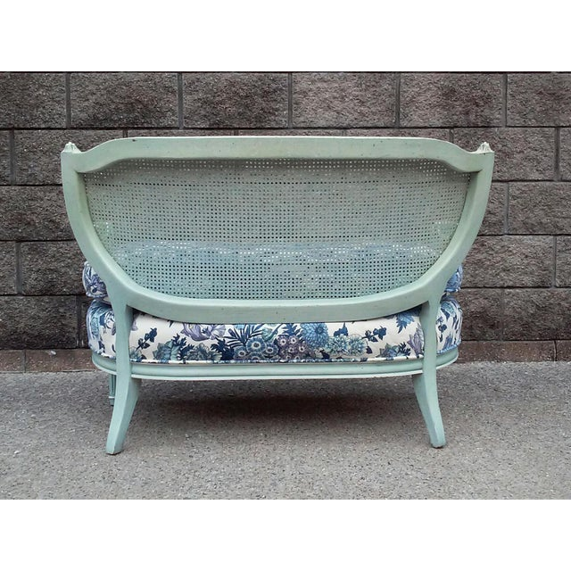 French Cane Back Settee For Sale In Detroit - Image 6 of 9