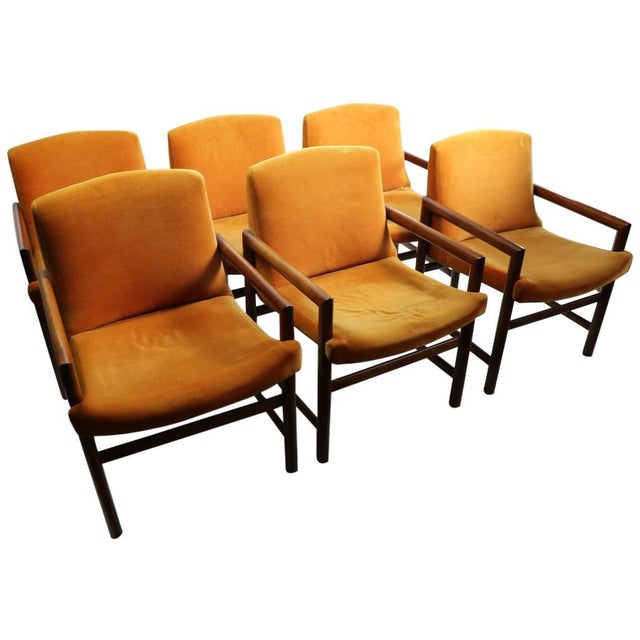Set of 6 Rosewood Frame Dining Chairs by Baughman For Sale - Image 13 of 13