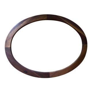 Antique Oval Two Tone Wood Frame For Sale