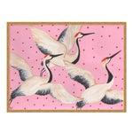 Babette, Cleo & Estelle Rouleau by Willa Heart in Gold Framed Paper, Medium Art Print