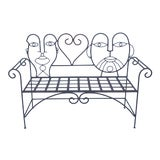Image of 1960s Retro Modern Whimsical Figurative Steel Bench For Sale