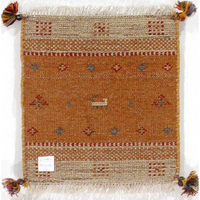 Traditional Pasargad N Y Persian Gabbeh Scatter Rug - 1′3″ × 1′3″ For Sale - Image 4 of 4